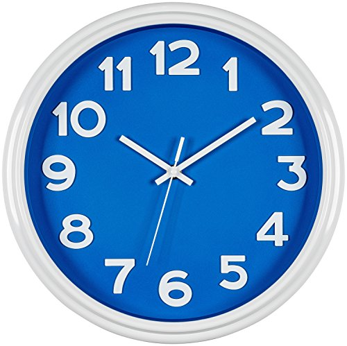 (Bernhard Products Blue Wall Clock 12.5