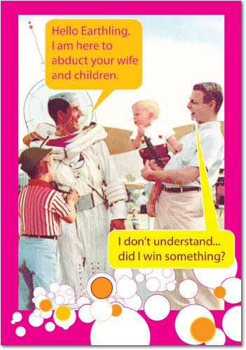 (Moon Man - Retro Happy Father's Day Card with Envelope (4.63 x 6.75 Inch) - Funny Astronaut Dad, Vintage Fathers Appreciation Greeting Card - Retro Gratitude, Thanks Note Card Stationery 0195)