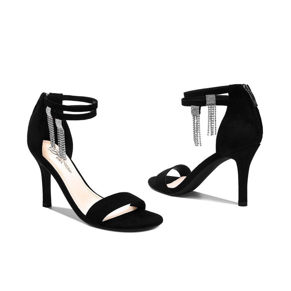XZGC Schuhe mit Sexy Hohen Absätzen Slim - Toe Sexy mit Mode Sandalen Schwarz 08c0de