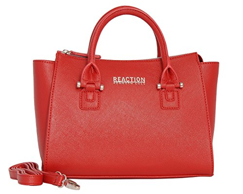 Kenneth Cole Reaction KN1550 Magnolia Handbag Top Handle Messenger Crossbody Shoulder Bag (BAKED APPLE)