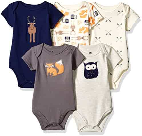 Hudson Baby Baby Boys' Cotton Bodysuits
