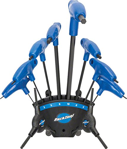 - Park Tool PH-1.2 P-Handled Hex Wrench Set with Holder - 8pc Black/Blue, One Size