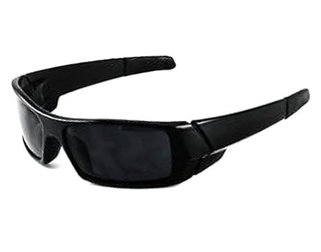 458f4e5a9c5 Amazon.com  MENS Black Wrap Around Dark Shades Motorcycle Sunglasses ...