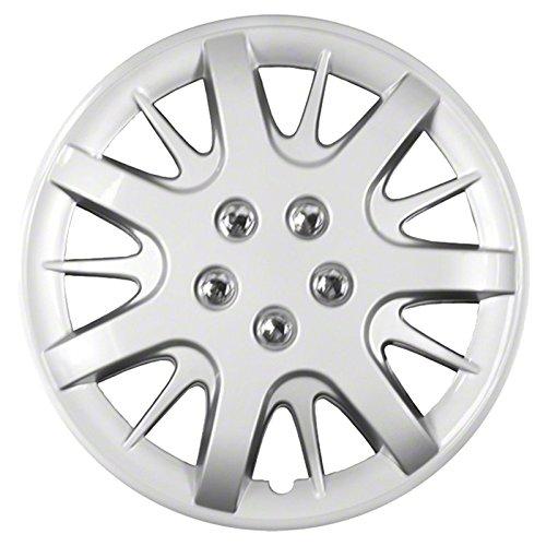Amazon Com Upgrade Your Auto Set Of Four 16 Silver Hubcap Wheel