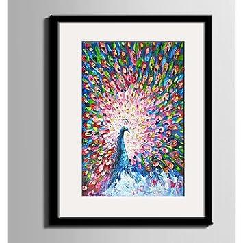 Z@SS Home Tiere Tier Abstrakt Gerahmtes Leinenbild Gerahmtes Set  Wandkunst,PVC Stoff Mit