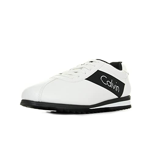 calvin klein jeans uomo 2138 bianco - sneakers pelle chad nappa  smooth elastic white 6604d1dee12