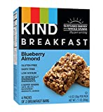 KIND Breakfast Bars, Blueberry Almond, Gluten Free, Non GMO, 1.8oz, 32 Count