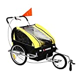 Confidence 2 in 1 Baby Bike Trailer w/ Suspension Yellow