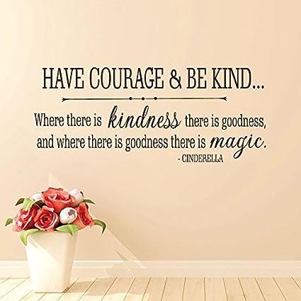 Amazon.com: Wall Decal Decor Cinderella Quote Have courage ...
