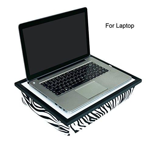 WELLAND Multi Tasking Laptop Breakfast Serving Bed Tray Lap Desk(Zebra)