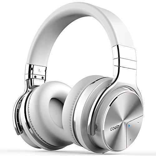 【2018年 ノイズキャンセリング進化版】COWIN E7 PRO ワイヤレス ノイズキャンセリング Bluetooth ヘッドホン 密閉型 高音質 内蔵マイク NFC搭載 ケーブル着脱式 30時間再生 ハンズフリー通話可能 iphone PC Mac などに対応 ヘッドフォン (ホワイト)