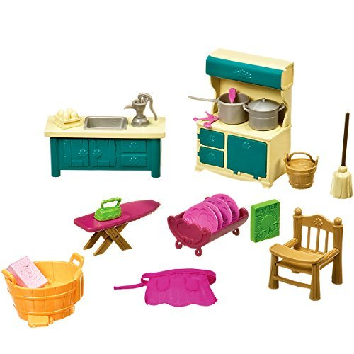 Li'l Woodzeez Kitchenette and Housekeeping Set