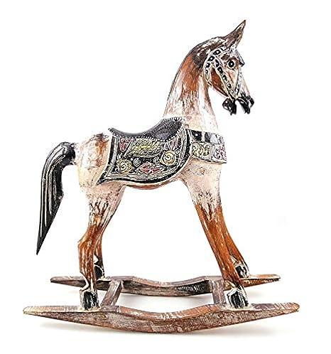 Cavallo A Dondolo Artigianale.Cavallo A Dondolo Artigianale In Legno 45 Cm Decorazione