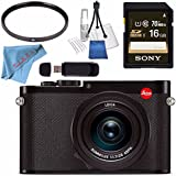 Leica Q (Typ 116) Digital Camera (Black) #19000 + Sony 16GB SDHC Card + 49mm UV Filter + Card Reader + Deluxe Cleaning Kit + Fibercloth Bundle