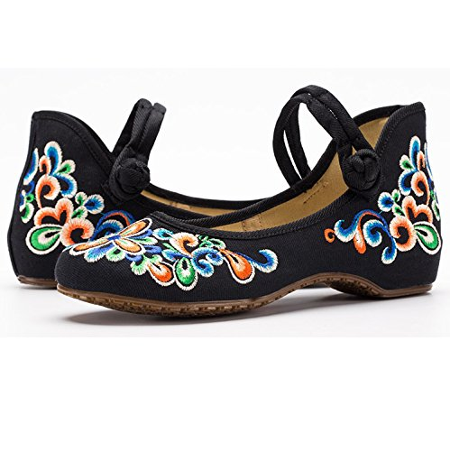 Lona Mujer Negro Canvalite Ballet de FwXH1