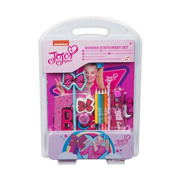JoJo Siwa Stationery Set Back to School Includes Pencil Tin and Pink Bow Pencils Notebook – Brilliant Gift