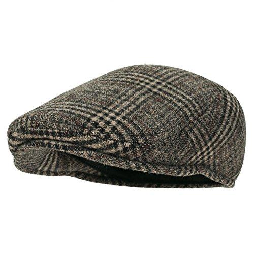 Howels Glen Plaid Wool Vintage Irish Newsboy Cap Duckbill Flat Hunting Hat