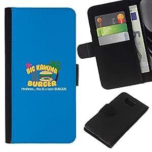 All Phone Most Case / Oferta Especial Cáscara Funda de cuero Monedero Cubierta de proteccion Caso / Wallet Case for Samsung ALPHA G850 // Kahuna Burger - Tasty