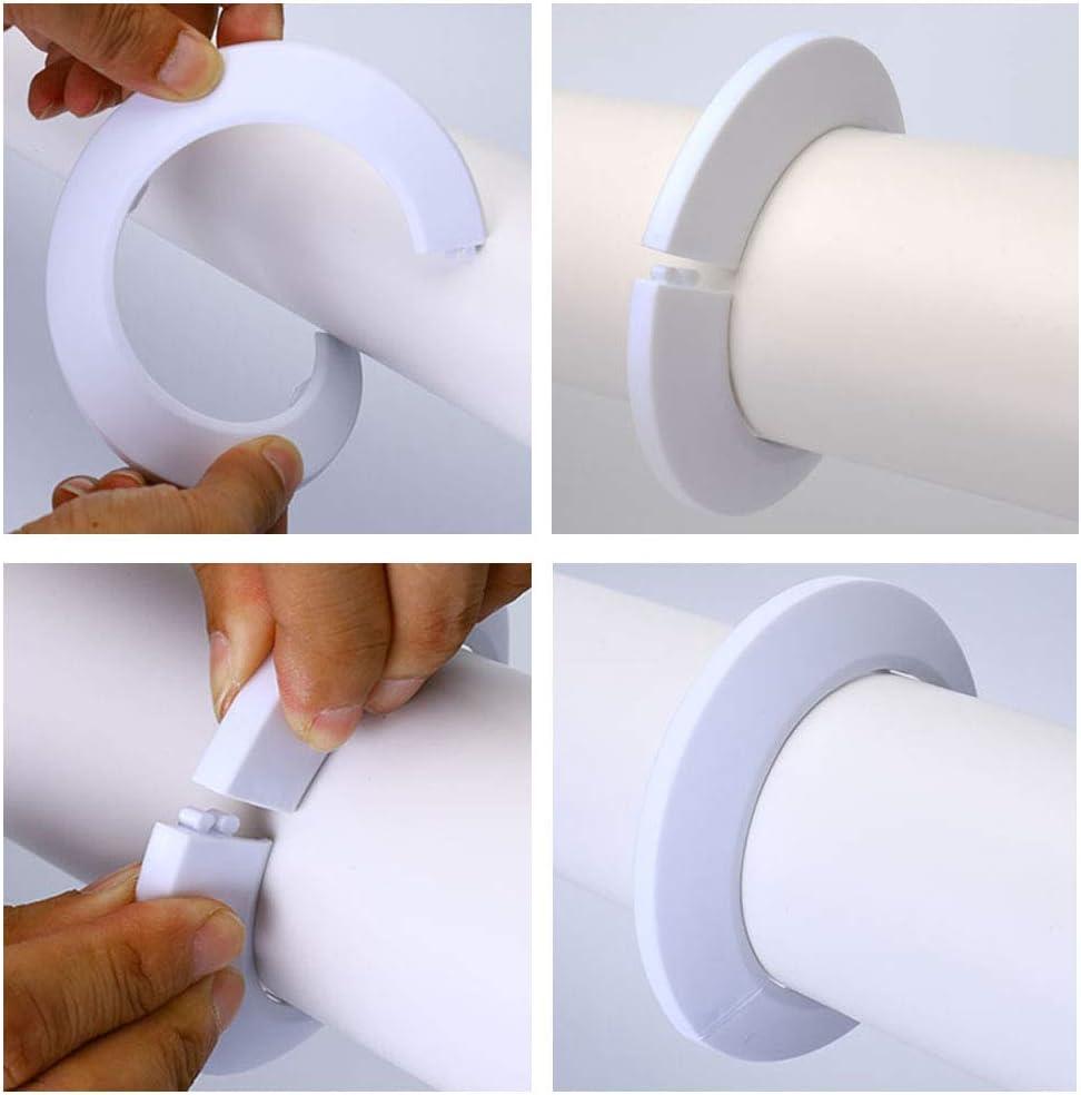 Nsiwem 20 piezas tubo cubierta accesorios Cubierta Radiador de Tubo Rosetones para tubos de calefacci/ón embellecedor radiador pl/ástico para tuber/ías Cubiertas para tubo de di/ámetro 15 mm Blancas