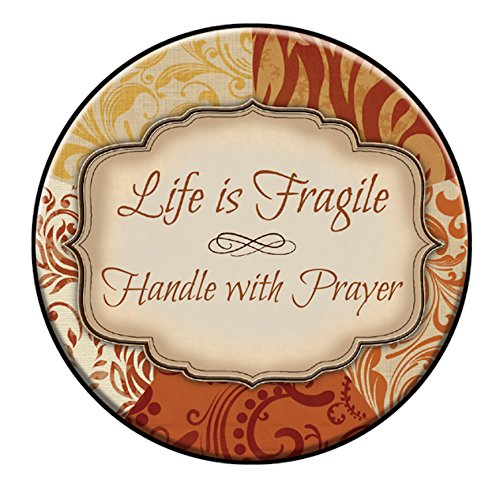 CB Gift Heartfelt Collection-Simplicity Christian Tabletop Plaque, 4-Inches in Diameter, Life is Fragile