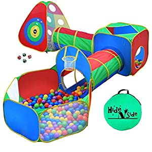Toddler Jungle Gym Play Tent with Play Crawl Tunnel Toy