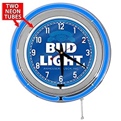 Bud Light 15 Blue Double Neon Garage Clock from Redeye Laserworks