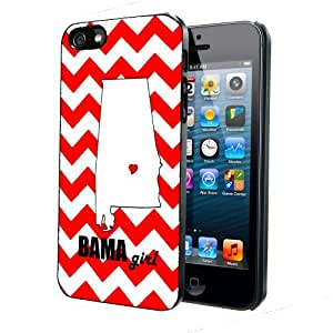 Red Bama Girl Chevron iPhone 5 5s Back Case