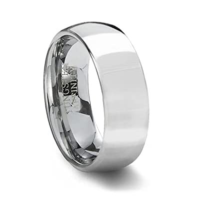 polished domed 8mm width size 4 - Wedding Ring Band