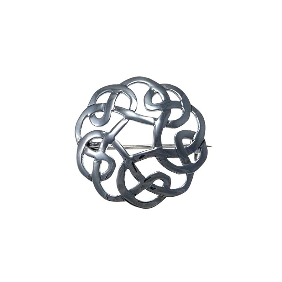 Sterling Silver Celtic Brooch Irish/Scottish Pin