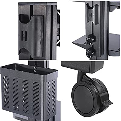 "AW Rolling Desktop PC Mobile Cart 25x22x69"" Monitor Mount Printer Deck Computer Desk Workstation"