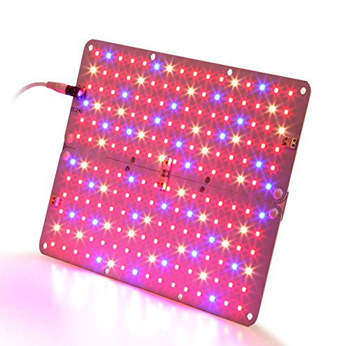 Aceple LED Grow Light, 2 Sizes Configurable 20W Ultra Thin Plant Growing Panel for Greenhouse Hydroponic Indoor Plants Veg Flower