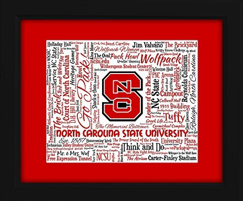 North Carolina State University (NCSU) 16x20 Art Piece - Beautifully matted and framed behind glass