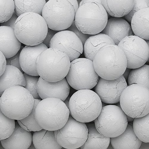 (Individually Wrapped Foil Covered Chocolate Caramel Balls in a Variety of Colors - Bulk Wholesale (White, 5 Pounds))