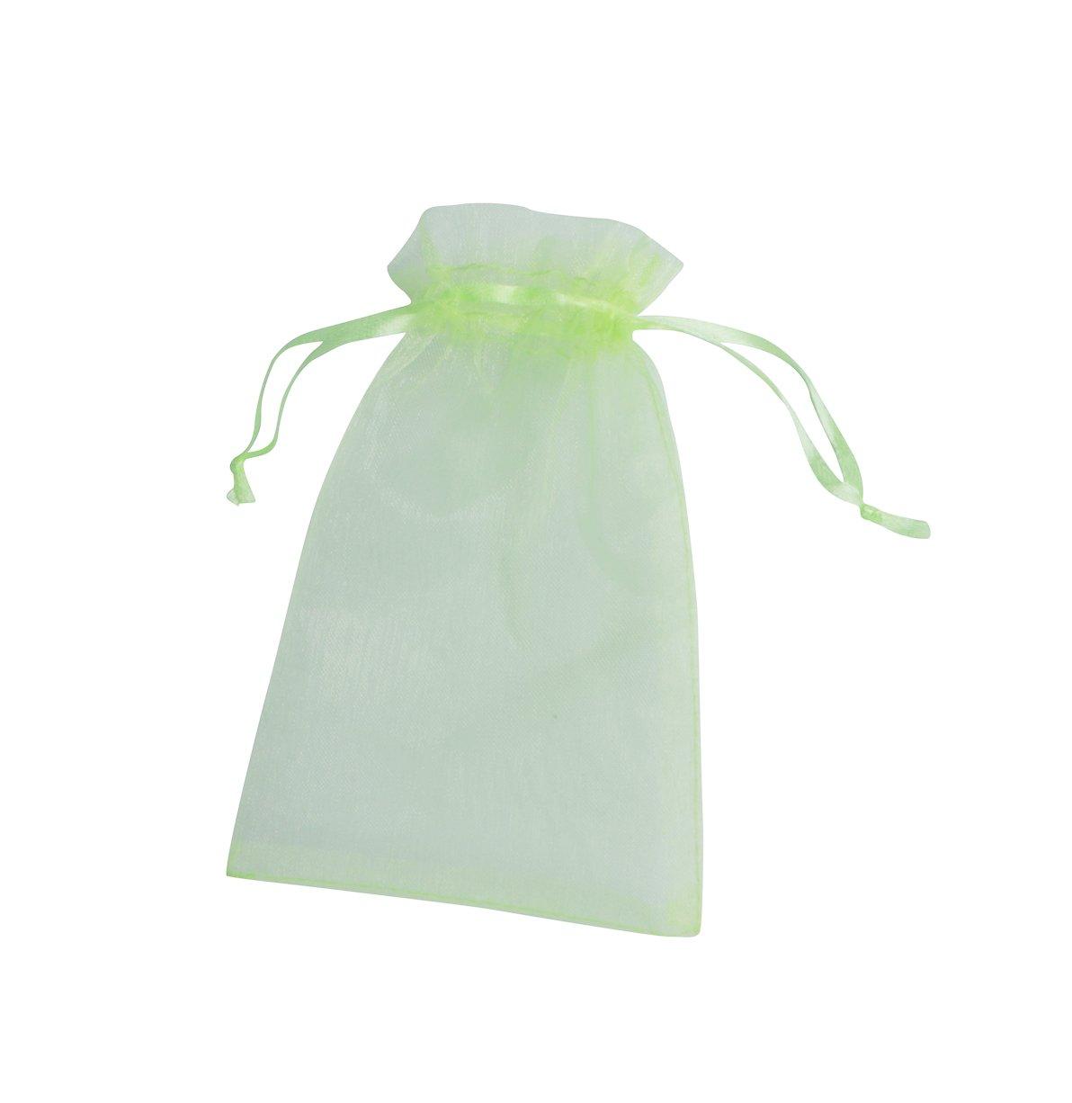 ONW Bolsas de Organza para Envolver Regalo Detalle de Boda Joyas Caramelo Dulces Bolsitas para Regalos ,Verde 100 PCS 10x15cm