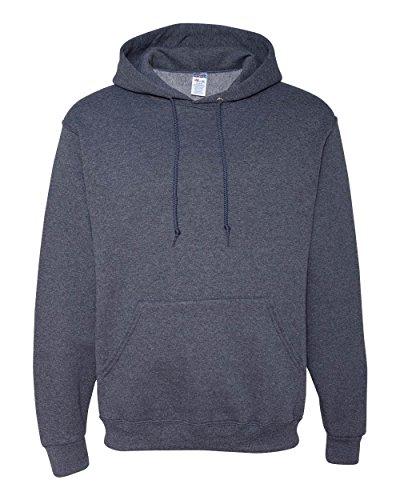 Jerzees 8 oz. NuBlend 50/50 Pullover Hood, VINTAGE HTH NAVY - XXXX-Large (Golf Vintage Sweatshirt)
