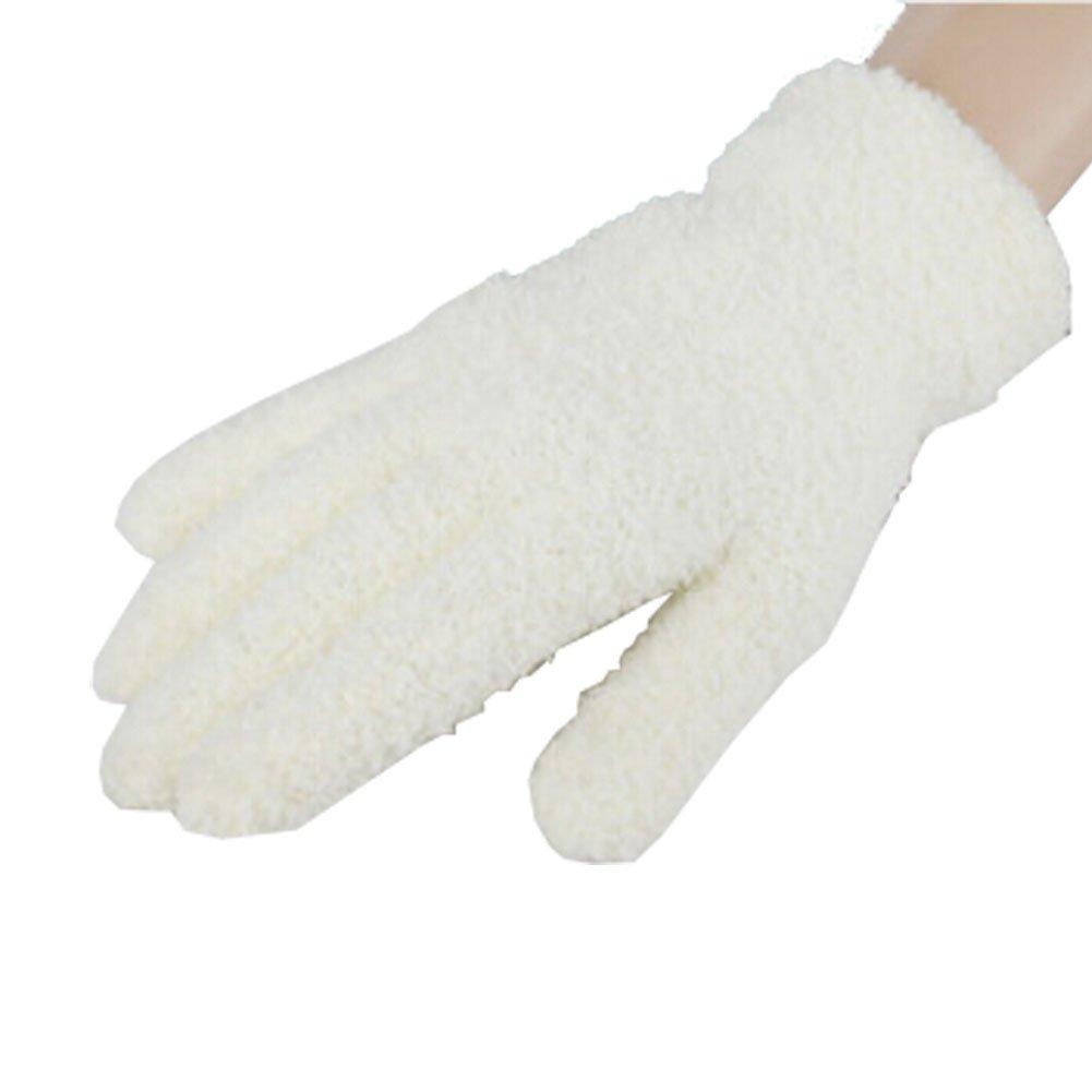 Femmes / Filles d'hiver Finger chaud Gants en peluche, 1 paire, blanc Blancho Bedding
