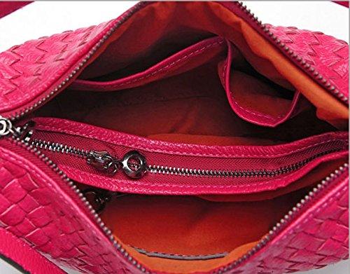 Keshi Leder Cool Damen Handtaschen, Hobo-Bags, Schultertaschen, Beutel, Beuteltaschen, Trend-Bags, Velours, Veloursleder, Wildleder, Tasche Rot
