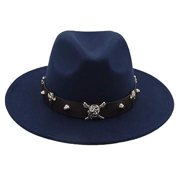 JiuRui Gorros y Sombreros Elegante Señora Floppy Cloche Wide Brim ...