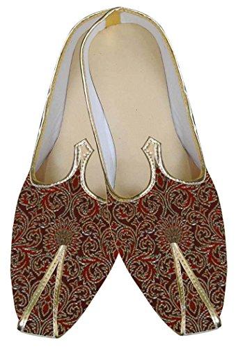 MJ0025 Granate de Boda Zapatos Moda Hombres INMONARCH 5UBwqYRx