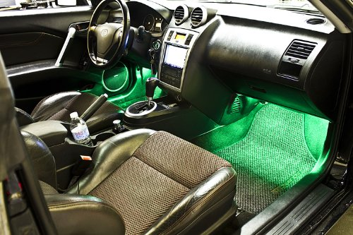 2003-2014 Honda Pilot Footwell LED Kit, Green