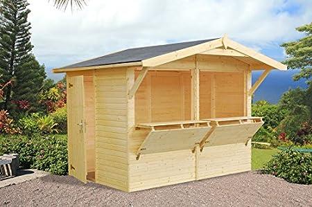Casita de madera de abeto para jardín. - Dimensiones: 16 mm. 5 m². 273 x 190 cm: Amazon.es: Hogar