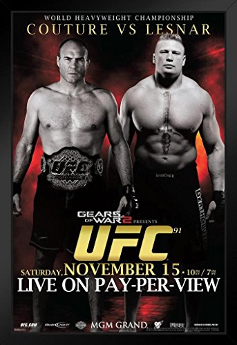 Pyramid America Official UFC 91 Randy Couture vs Brock for sale  Delivered anywhere in USA
