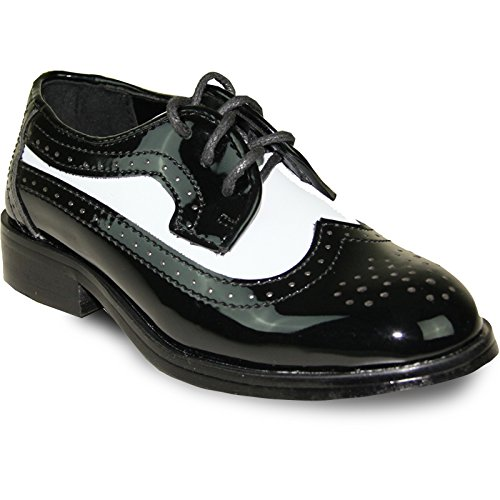 Jean Yves Boy Dress Shoe JY03KID Wing Tip Two-Tone Tuxedo for Wedding, Prom and Formal Event - Jean Yves Tuxedos