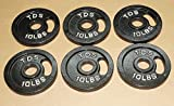 TDS OLYMPIC PLATE PACKAGE: 6-10lb Plates (Total 60 lbs)