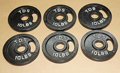 TDS OLYMPIC PLATE PACKAGE: 6-10lb Plates (Total 60 lbs) by TDS