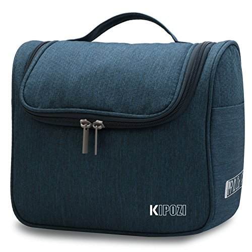 - KIPOZI Hanging Toiletry Bag for Men & Women, Waterproof Toiletry Organizer For Travels, Travel Shower Bag with Mesh Pockets & Sturdy Hook,New Arrival (Navy)