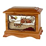 Wood Cremation Urn - Mahogany Cabin Ambassador