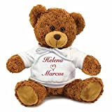Amazon Price History for:Personalized You and Me Snuggle Teddy Bear - Brown, 13 inch (White Hooded Shirt)