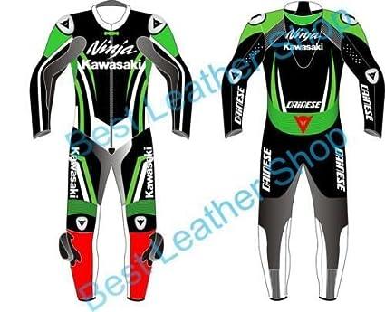 Amazon.es: Kawasaki Ninja Traje de piel Para Moto fabricado a ...