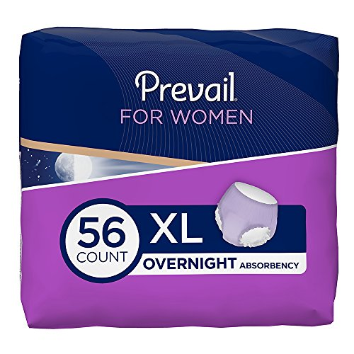 sorbency Incontinence Underwear for Women, Extra Large, 14 Count (Pack of 4) (Overnight Extra Protection)